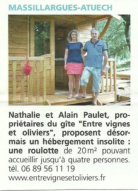 Alès agglo - Gite Roulotte Entre Vignes et Oliviers - Anduze