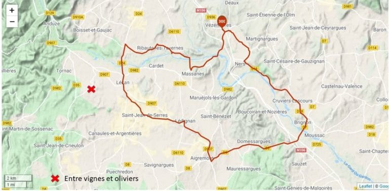 les Gardons - cyclotouristes - gite roulotte entre vignes et oliviers - cevennes - gard