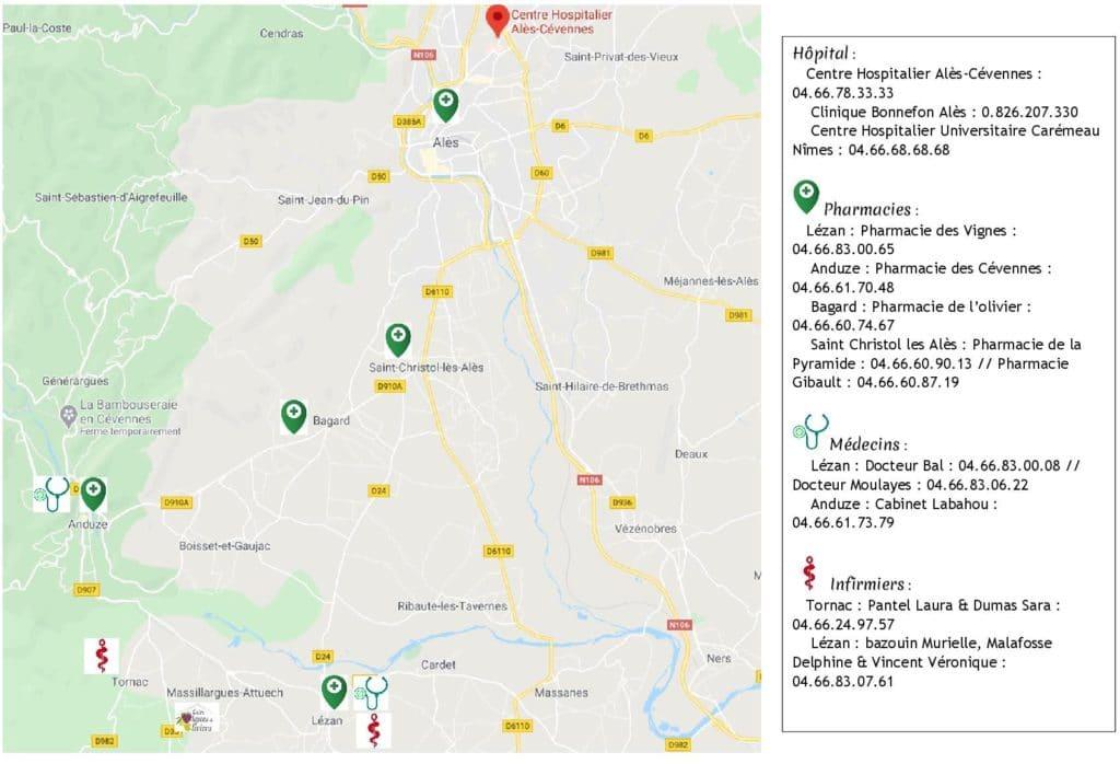 sante Covid-19 - gite roulotte Entre vignes et oliviers - cevennes - Gard